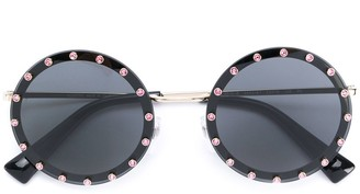 Valentino Studded Round Sunglasses