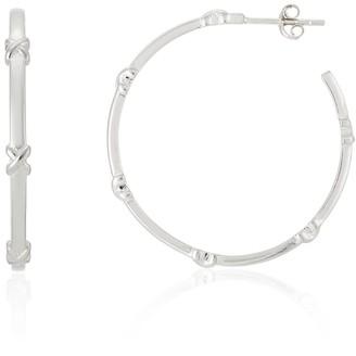 Auree Jewellery Deia Large Sterling Silver Kiss Hoop Earrings