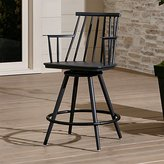 "Crate & Barrel Union Charcoal 24"" Swivel Counter Stool"