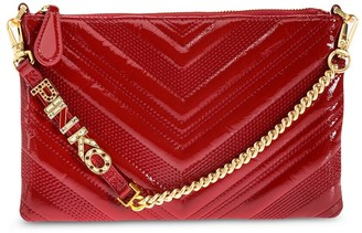 Pinko Logo Quilted Clutch