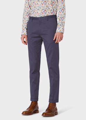 Paul Smith Men's Slim-Fit Charcoal Grey Stretch-Cotton Chinos