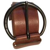 Miu Miu Cognac. Brown leather belt