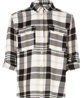 River Island Girls cream check shirt