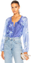 Raquel Allegra Poet Combo Top in Blue Skies Tie Dye | FWRD