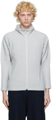 Homme Plissé Issey Miyake Grey Basic Zip-Up Jacket