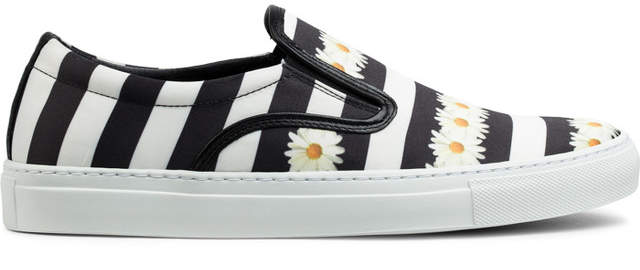 Mother of Pearl Daisy Print Achilles Satin Base Pumps Sneakers