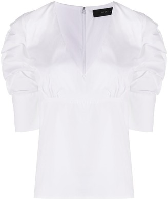 FEDERICA TOSI Short-Sleeve Fitted Blouse