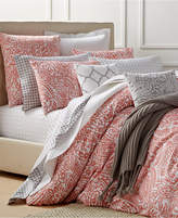 Charter Club Damask Designs Paisley Hibiscus Twin Duvet Set, Created for Macy's