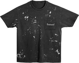 Profound Aesthetic Paint Splattered Logo Pocket T-Shirt