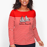 Talbots Authentic Tee - Bateau Marseille Stripe
