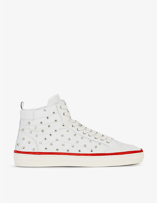 The Kooples Stud-detail leather high-top trainers
