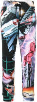 Moschino Transformer print track trousers