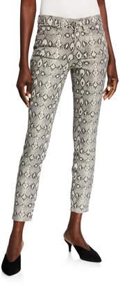 Nicole Miller Soho High-Rise Snake-Print Pants