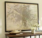 Pottery Barn Vintage Inspired Paris Map Framed Print