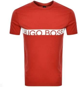 HUGO BOSS Boss Business Slim Fit UV Logo T Shirt Red