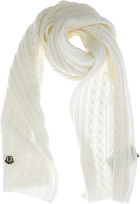 Moncler Cable Knit Logo Patch Scarf