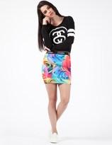 Jaded London Multi Garden Floral Mini Skirt