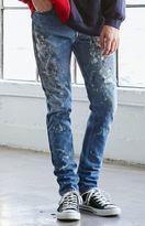 LA.EDIT Vintage Painted Medium Indigo Skinny Jeans