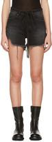 Off-White Black Denim Super Ripped Shorts