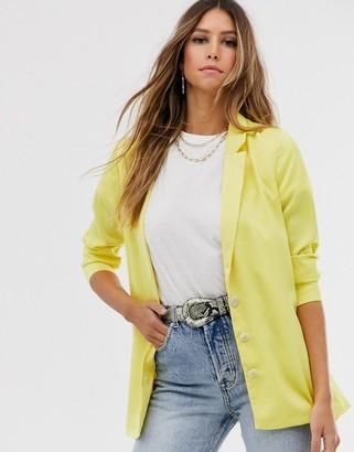 Vila boxy blazer-Yellow