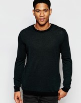 Asos Cotton Jumper With Side Zip Pockets