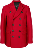 DSQUARED2 classic peacoat - men - Cotton/Polyamide/Polyester/Virgin Wool - 46