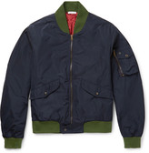 Tomas Maier - Contrast-trimmed Shell Bomber Jacket