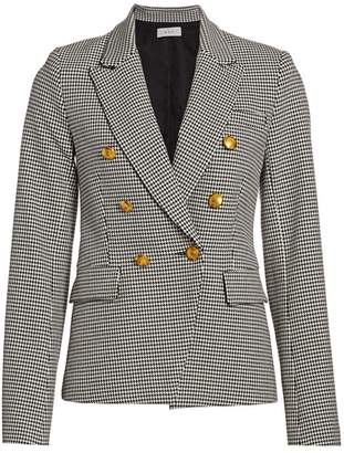 A.L.C. Double-Breasted Houndstooth Blazer