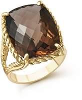 Bloomingdale's Smoky Quartz Rectangular Statement Ring in 14K Yellow Gold - 100% Exclusive