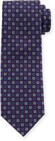 Eton Square-Pattern Silk Tie