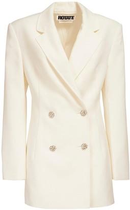 Rotate by Birger Christensen Fonda Wool Blend Blazer Dress