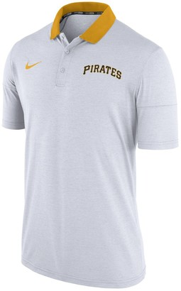 Nike Men's Heather White Pittsburgh Pirates GM Touch Polo