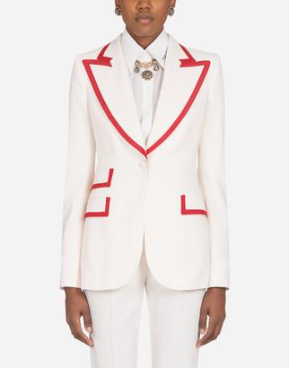 Dolce & Gabbana Woolen Jacket With Edge Detailing