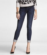 Skinny Embellished Rolled Cuff Jean