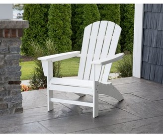 Polywood Nautical Recycled Plastic Adirondack Chair Color: Black