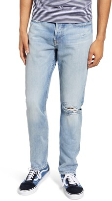 Frame L'Homme Slim Fit Ripped Jeans