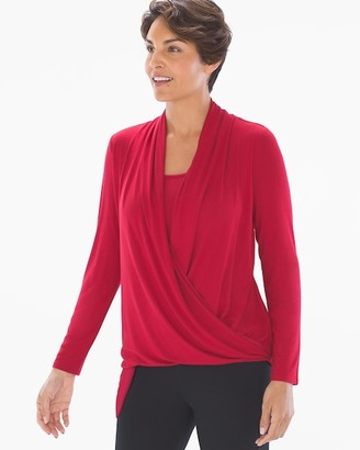 Soma Intimates Asymmetrical Drape Wrap Top Heather Quartz