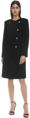 Givenchy 4g Gold Button Double Crepe Coat