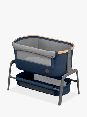 Maxi-Cosi Iora Co-Sleeper Bedside Crib, Essential Blue