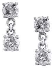 Effy Pavé Classica 14K White Gold & Diamond Drop Earrings