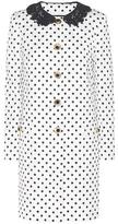 Dolce & Gabbana Polka-dot Printed Jacquard Coat