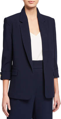 Open-Front French-Cuff Blazer