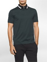 Calvin Klein Platinum Mock Neck Polo Shirt