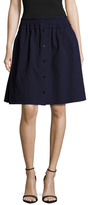 Carven Seersucker A-Line Skirt