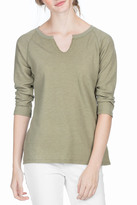 Lilla P 3/4 Sleeve Split Neck Tee