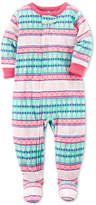 Carter's 1-Pc. Fair Isle-Print Footed Fleece Pajamas, Baby Girls (0-24 months)