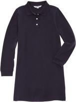 Brooks Brothers Girls' Navy Jersey Polo Dress