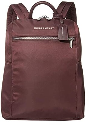 Briggs & Riley Slim Small Backpack (Plum) Backpack Bags