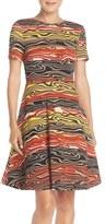 ECI Print Knit Fit & Flare Dress