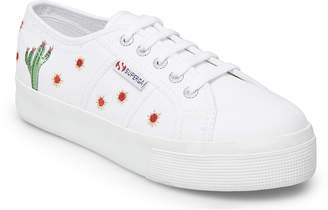 Superga Women's Sneakers WHITE - White Cactus Embroidery Fernanda Medina - Women
